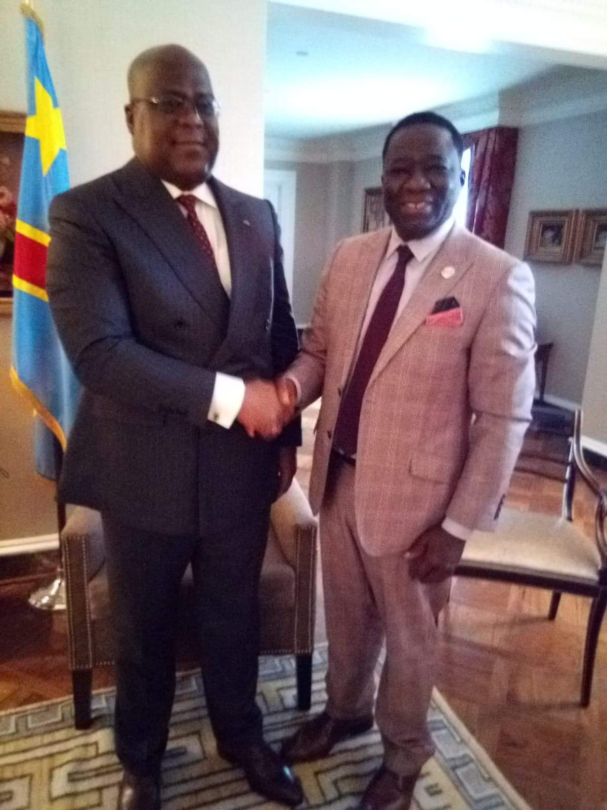 His Excellency President of DR Congo meeting IHRC Deputy Foreign Minister in the Fringes of the UNGA 2019
