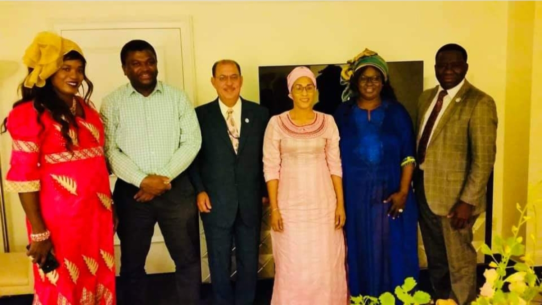 IHRC delegation paid a coutesy call on First Lady of Gambia