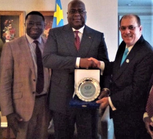 IHRC delegation Presentated a Human Rights Award to the President of DR Congo, H.E  Félix Tshisekedi